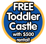 Free Bouncy Castle with $500 rental